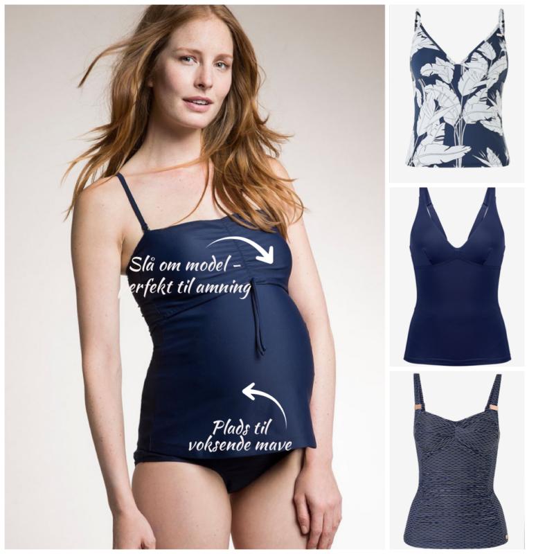 ventebadetøj tankini til gravid badetøj til dravid todelt badedragt til gravid amme badetøj efter graviditet badetøj