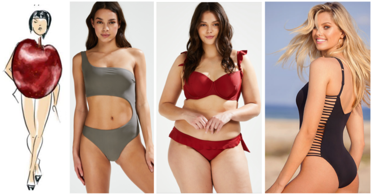 badetøj guide æbleform kropstype badedragt æblekrop bikini guide til æblekrop