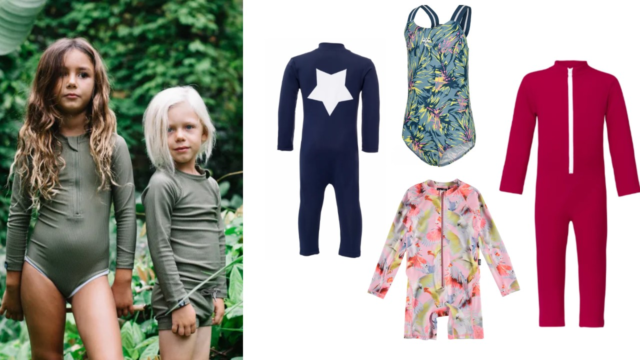 UV badetøj til børn UFP+50 badetøj heldragt badedragt med ærmer uv badetøj med ben