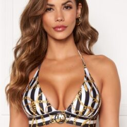Chiara Forthi Arcola bikini bra Striped / Black / Gold M