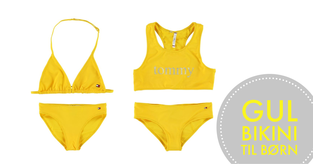tommy bikini til børn tommy hilfiger bikini til piger gul bikini