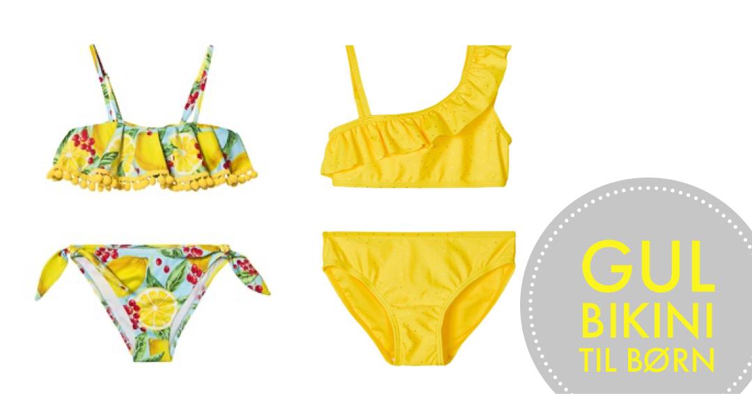 gul bikini til børn name it bikini til børn