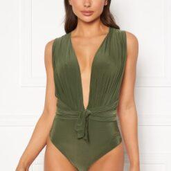 Goddiva Multi Tie Swimsuit Olive M