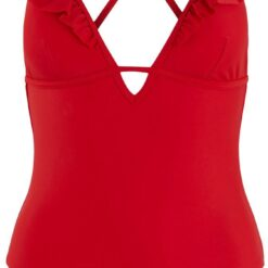 Pieces - Nabiya Swimsuit - High Risk Red - XS