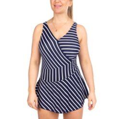 Trofe Navy Stripe Sicily Swimsuit * Gratis Fragt *