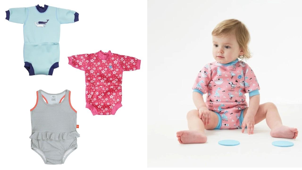 blebadedragt ble-badedragt våddragt til baby badedragt med ble badetøj med ble
