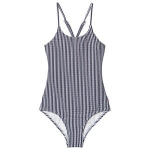 Seafolly Blue Tropo Loco Stripe Tank Swimsuit 6 years