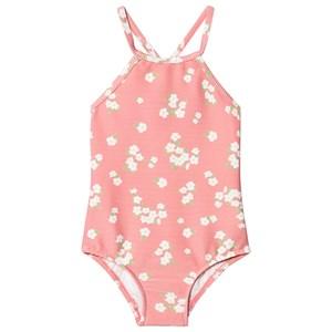 Seafolly Pink Daisy Duke Lace Frill Tank Swimsuit 2 years