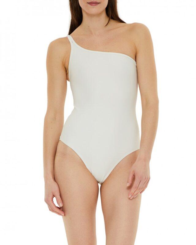 flilippa K badedragt hvid one shoulder assymmetrisk badedragt hvid