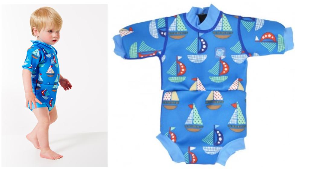 https://www.faktorfobi.dk/splash-about-happy-nappy-vaaddragt-set-sail våddragt til baby drange blå våddragt