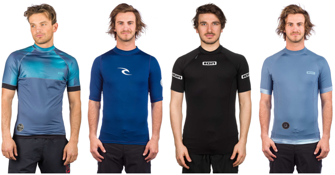 rashguard med korte ærmer mand rashguard til mænd rashguard tætsiddende surfer trøje kotrøje til mænd spandex tshirt til mænd tshirt til vandsport