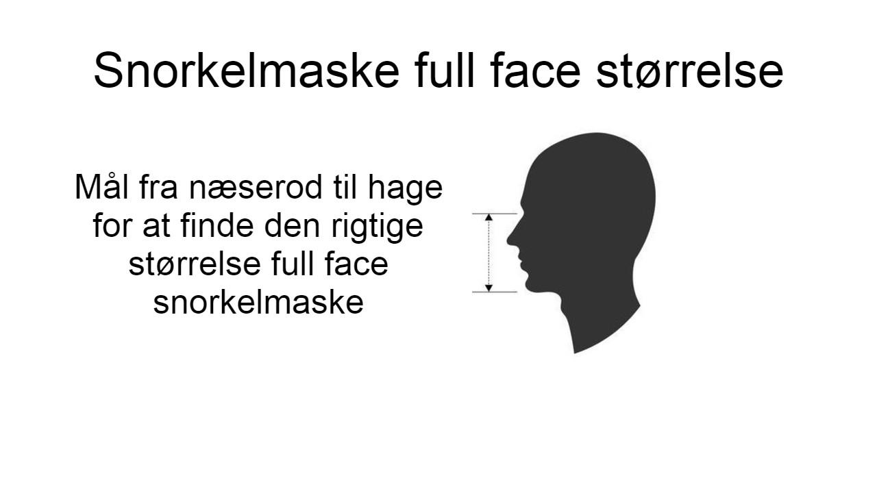snorkelmaske full face størrelse find den rigtige størrelse full face dykkermaske