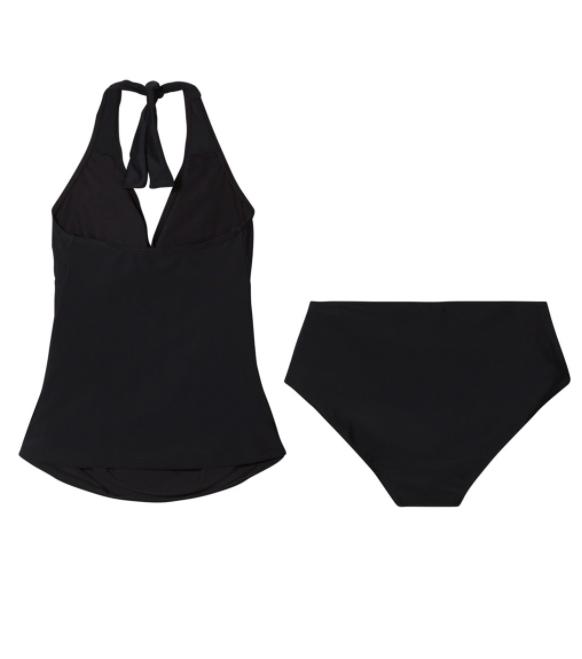 badetøj til gravid todelt badedragt gravis sort halterneck carriwell tankini