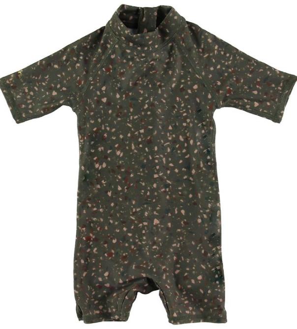 UV dragt soft gallery soldragt til børn soldragt med korte ærmer soldragt med høj hals