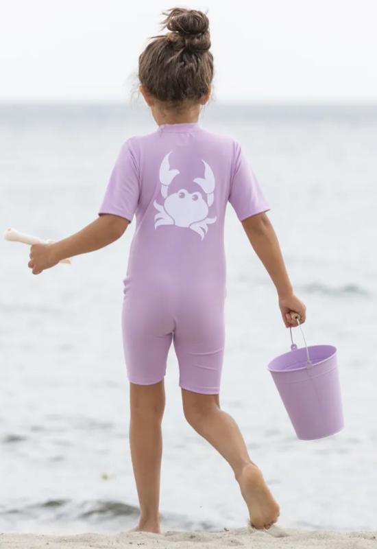 lilla soldragt uv dragt til piger krabbe heldragt badedragt
