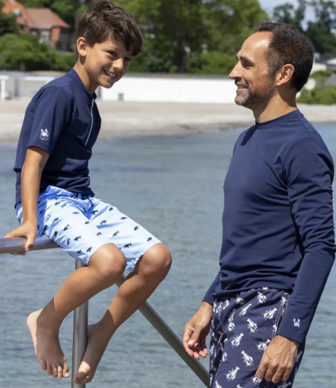 petit crabe soltrøje til herre soltrøje til mænd UV t-shirt til mænd marineblå badetrøje med lange ærmer til mænd