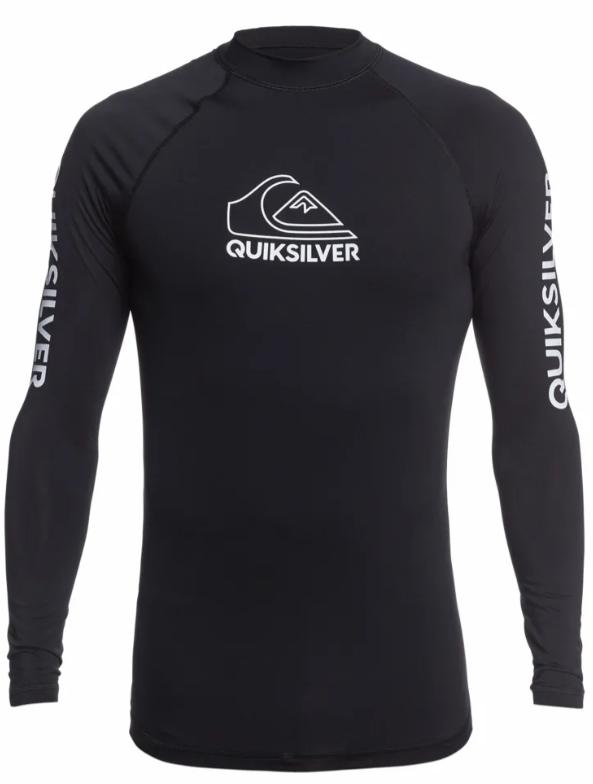 quicksilver rashguard soltrøje til mænd UV badetøj til mænd soltrøje til mænd rashguard med lange ærmer sort soltrøje