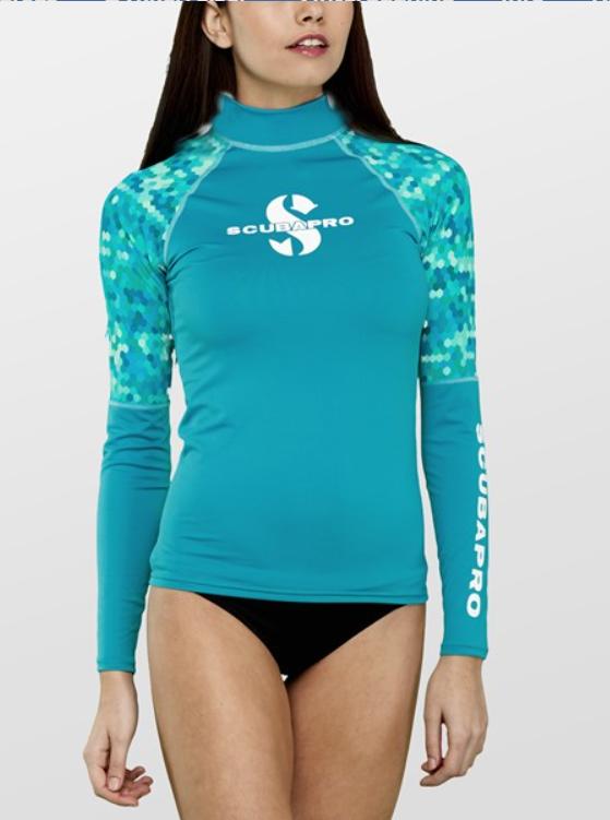 rashguard kvinder langærmet kajakbluse langærmet SUP bluse til dame badeklar UV bluse badetøj
