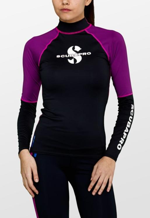 squbapro rashguard soltrøje til kvinder sort bade t-shirt til vandsport