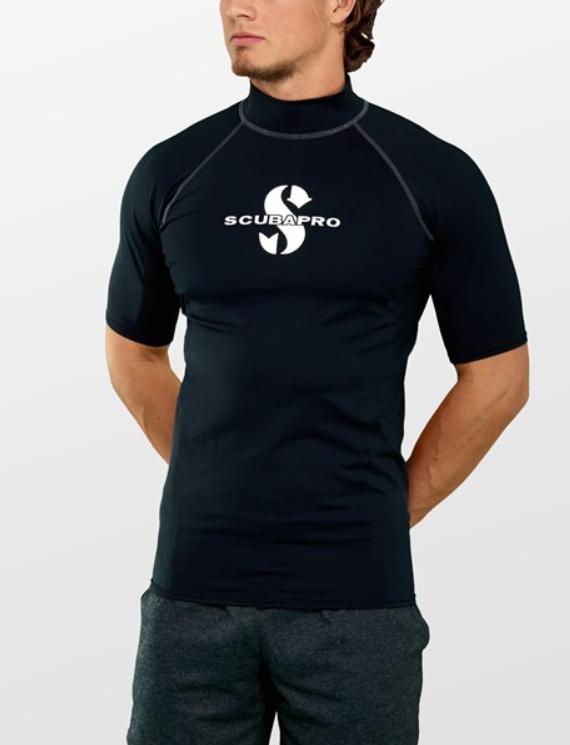 squbapro soltrøje til mænd sort UV t-shirt til herre SUP beklædning rashguard til vandsport