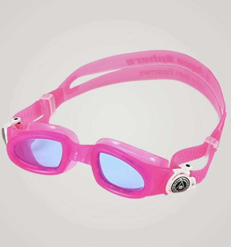 svømmebriller aqua sphere svømmebriller 1 år baby børn pink svømmebriller lyserøde svømmebriller med blå linser