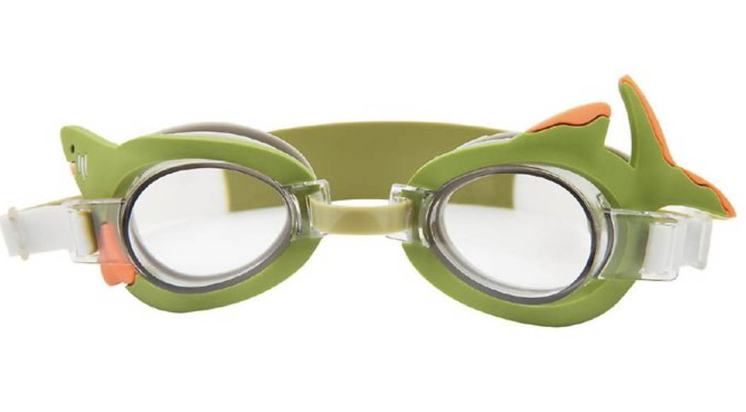 sunnylife svømmebriller haj svømmebriller til børn grønne svømmebriller 3 år