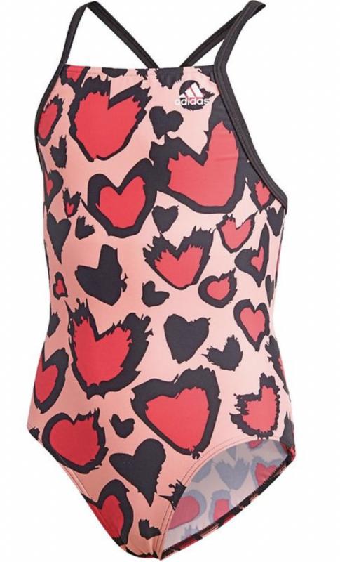 adidas badedragt hjerte badedragt til pige lyserød badedragt til piger