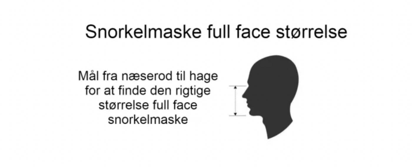full face snorkel maske størrelsesguide finde den rigtige str full face dykkermaske