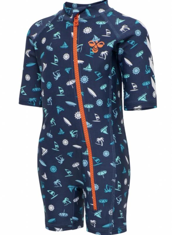 helbadedragt blue denim heldragt badetøj dreng hummel badedragt dreng uv dragt til børn