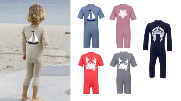 petit crabe soldragt uv heldragt badetøj med uv beskyttelse baby barn