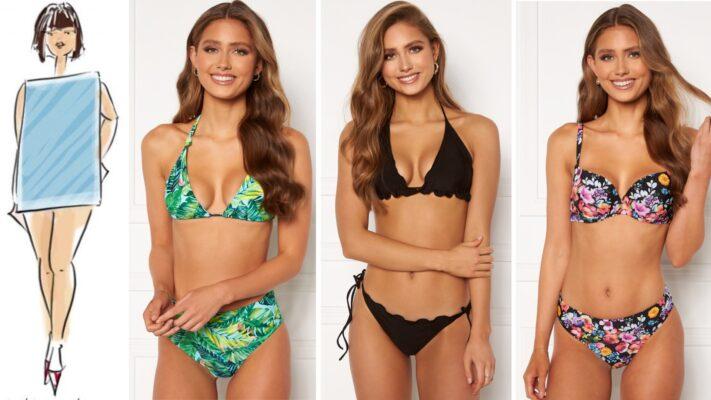 søjleform badetøj til søjleformet krop lige krop badetøj bikini til krop uden former badeklar