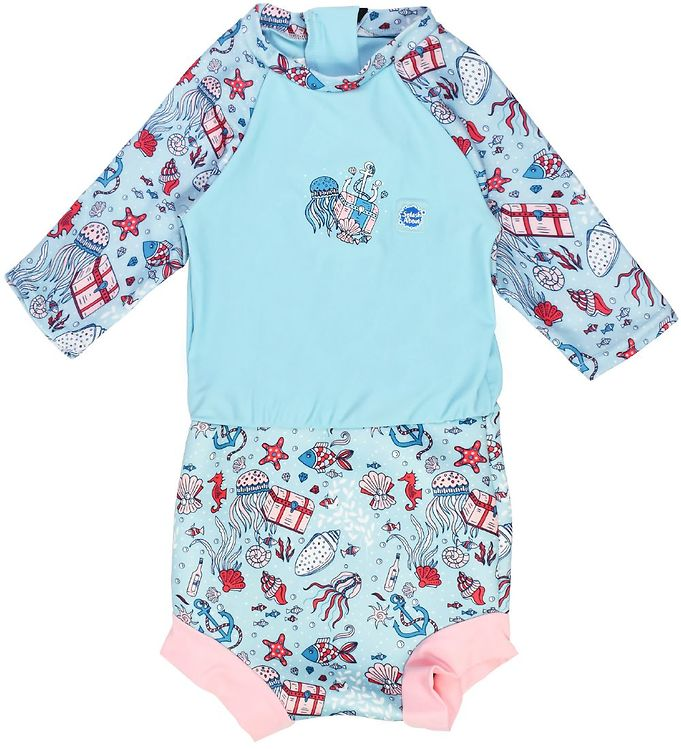 våddragt til baby blebadedragt baby badedragt badetøj med ble