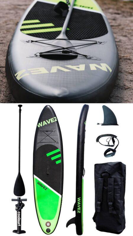 wavez coolsurf supboard lille sup tilbud paddleboard udsalg sort oppusteliget paddle board